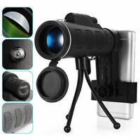 40X60 HD Monocular Low Light Level Night Vision Phone BAK4 Telescope w/ Tripod