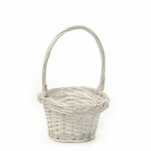 Wedding Flower Girl Basket White Willow Decorations Ceremony Accessories