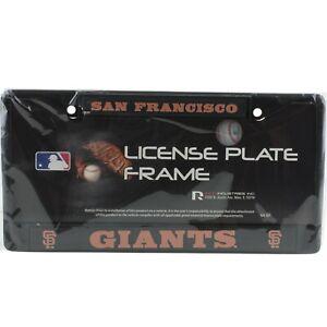 San Francisco Giants Chrome Auto License Plate Frame Car Metal New Black Orange