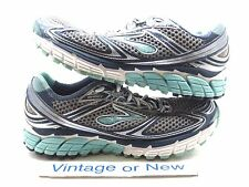 Women's Brooks Ghost 5 Dark Denim Angel Blue Silver Running Shoes sz 6.5