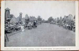Spartanburg, SC 1910 Postcard: Camp Wadsworth Company Street - South Carolina