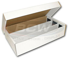 (1) 3000 Count Storage Boxes Organize & Protect Cards 3 row 18 x 3 1/8 x 4 3/8