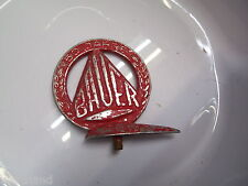 Oldtimer vélo protection tôle Emblem Emblème Bauer 50 ans