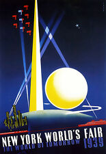 Art Poster - New York Worlds Fair - 1939 - World of Tomorrow A3 Print