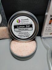 *LEMON DILL* Flavored CULINARY Artisan Finishing Salt- Essential Oil Enhanced