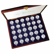 NEW 30 Years of US Mint Half Dollars Each Struck of .900 Fine Silver 1277