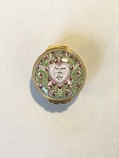 Halcyon Days Enamels 1993 St.Valentine's Day For You My Love Jewelry Trinket Box