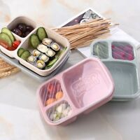 New 3 Compartments Lunch Box Food Storage Container for Kids Adults Picnic