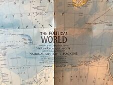 1975 NATIONAL GEOGRAPHIC MAP OF THE WORLD POLITICAL & PHYSICAL NICE FRAMED