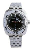 Vostok Amphibian 710634 Watch Scuba Dude Diver Automatic Military Russian Black