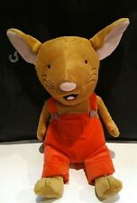 """Kohls Cares If You Give A Mouse A Cookie Red Overalls 13"""" Stuffed Plush"""