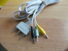 3 Prong Computer Audio/Video AV Cables 6' length 3.5mm Male Stereo Jacks G/Y/B