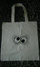 Crazy Googly eyes topshop screen printed tote bag - eco friendly handbag