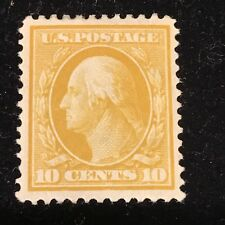 Us Stamp #338 10 Cent Mint Light Hinged. Xf
