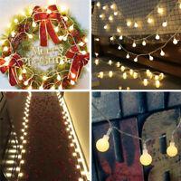 Christmas LED String Fairy Lights Battery Solar Home Garden Party Xmas Decor UK