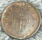 1863 NEW YORK CIVIL WAR TOKEN ED SCHAFF DIVISION STREET 14 & 16 COLORFUL TONING