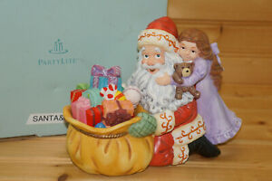 Partylite JOLLY SANTA Santa & Girl Candleholder, P8569