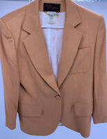 Women's Lolita Lempicka Paris Orange Blazer Jacket W/Gold Charm Size USA 10