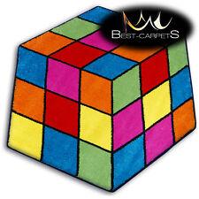 Thick MODERN RUGS 'PAINT' CARPETS ORIGINAL hexagon Blue Cheap For Kids Carpet