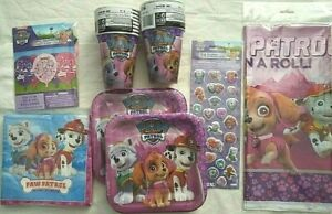 PAW PATROL GIRL Birthday Party Supply Decoration Kit w/Balloons & Puffy Stickers