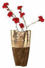Moderne Deko Vase Blumenvase aus Keramik gold/braun Höhe 30 cm