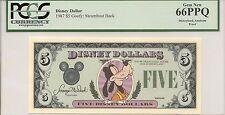 1987 $5 Goofy Disney Dollar PCGS 66 PPQ First year Type 1 PROOF Rare no serial #