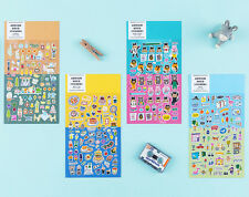 Ardium Decor Sticker 4 Sheet Diary Planner Battery Notebook Gift Book Point Deco