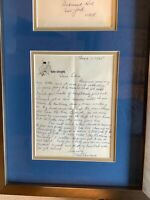 3 Stooges Moe Howard Autograph Signed Letter on 3 Stooge Stationary w/COA/framed