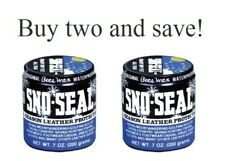 Sno Seal -2 PACK- Original Bees Wax Waterproofing Leather Protection Boot Shoes