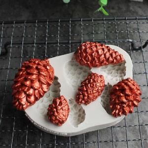 XMAS Pine Cone Nut Silicone Fondant Cake Decor Mold Chocolate Sugarcraft Mould