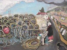 Creels Rosaveel Ros a Mhíl Galway Ireland Oil Painting Art 14x18 Irish Sullivan