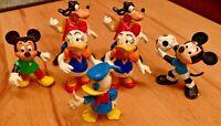 7x Walt Disney Figuren BULLY Donald Duck Daisy Duck Mickey Mouse Goofy Rarität ★