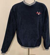 Augusta Sportswear Long Sleeve Fleece Plush Pullover Ski Apparel Sweater Blue L