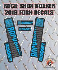 Rockshox BOXXER 2018 Style Fork Sticker Decal Graphics Enduro, DH, Blue Stealth