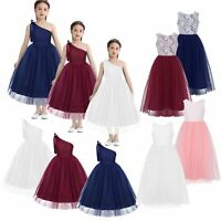 Girls Wedding Bridesmaid Flower Girl Dress Child Princess Formal Party Dresses