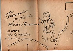 Patron original Poupée Modes et Travaux Françoise
