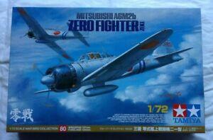 1/72 MODEL PLANE MITSUBISHI A6M2B ZERO FIGHTER TAMIYA D11-158