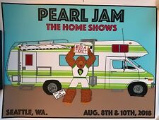 Pearl Jam seattle poster schuss the home shows 2018 tour safeco field pj new