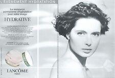 ▬► PUBLICITE ADVERTISING AD 2 pages Lancôme Crème hydrative 1991