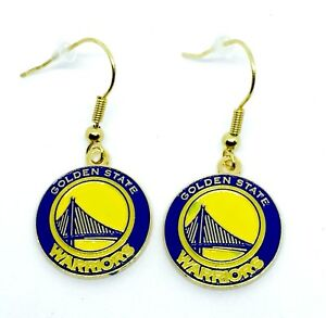 Golden State Warriors NBA Gold Color Dangle Earrings