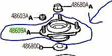 TOYOTA OEM 90-93 Celica Front Suspension-Strut Mount 4860920240