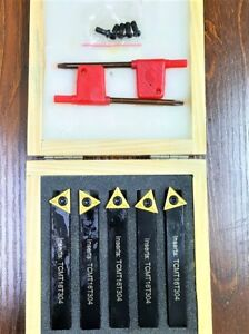 5 pcs Indexable Turning Tool Set,12MM,with TiN coated inserts