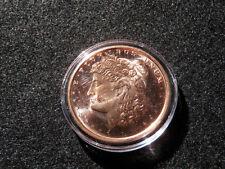 2012 1oz Morgan Copper Bullion Round w/ Airtight Case Coin Money Collectible