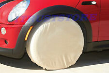 4 PC ROUND CAR AUTO AUTOMOTIVE CANVAS TIRE AND WHEEL RIM PROTECTORS COVER SET