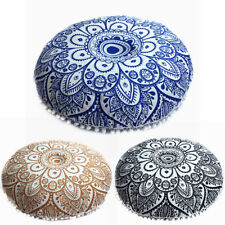 New Indian Mandala Floor Pillow Case Round Bohemian Cushion Pillows Cover Huge