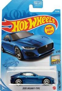 2021 Hot Wheels Mainline #025 - 2020 Jaguar F-Type Coupe (Blue) GRX29