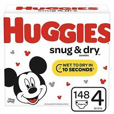 Huggies Snug & Dry 148 Count, Size 4 Baby Diapers Giant Pack