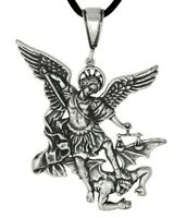 Sterling Silver 925 Archangel San St. Saint Michael Charm Pendant  | Made In USA