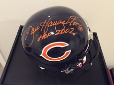 Dan Hampton signed full size helmet AND helmet display case w/glass background