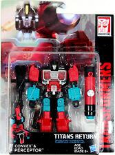 Transformers: Titans Return ~ PERCEPTOR & CONVEX ACTION FIGURES ~ Deluxe Class